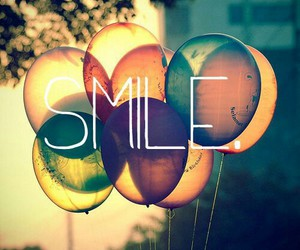 smile, balloons, and happy image