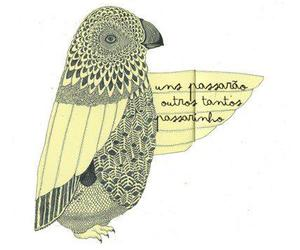 bird, Paper, and words image