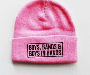 boy, pink, and band image