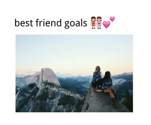 best friends, goals, and travel image