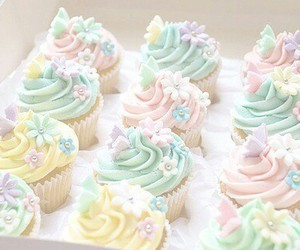 cupcake, sweet, and pastel image