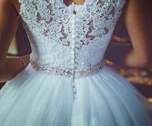 bride, pretty, and wedding image
