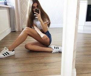 adidas, hair, and legs image