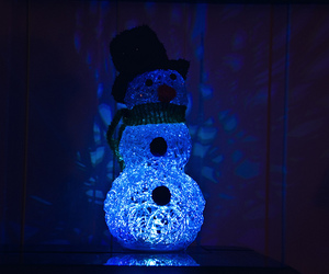 blue, light, and winter image