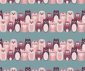 background, owls, and pattern image