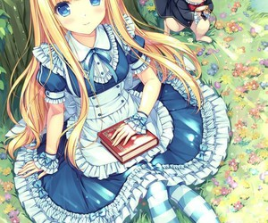 alice and wonderland, girl, and cute image