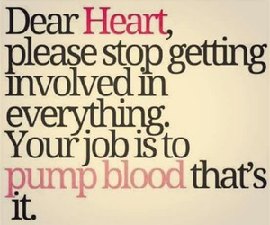 heart, quote, and blood image