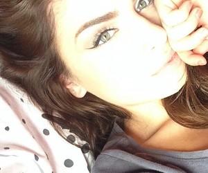 beautiful, brown hair, and eyeliner image