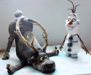 frozen, cake, and olaf image