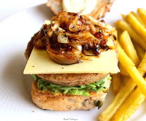 burger, delicious, and food image