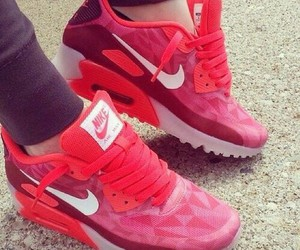 nike, shoes, and red image
