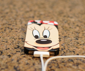 iphone, minnie, and disney image