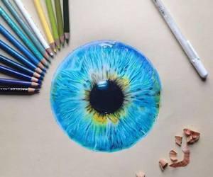 blue, art, and eye image