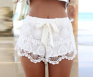fashion, beach, and lace image