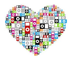 ipod, heart, and music image