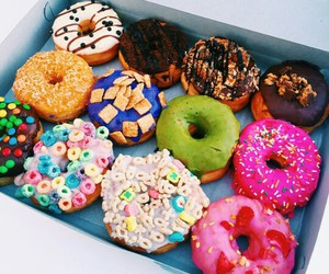 donuts, food, and sweet image