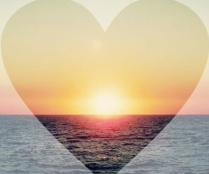 beach, heart, and lovely image