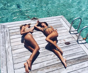 best friends, pretty, and goals image