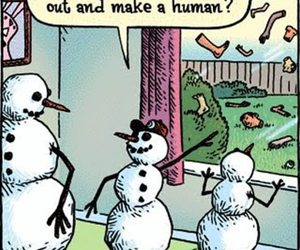 funny, human, and snowman image