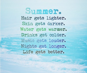 summer, hair, and life image