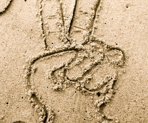 peace, beach, and sand image