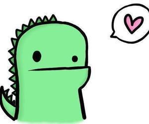 heart, dinosaur, and green image