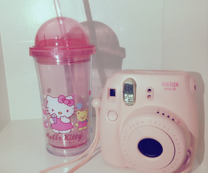 camera, cup, and flower image