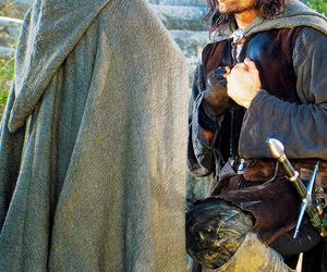 aragorn, frodo, and lord of the rings image