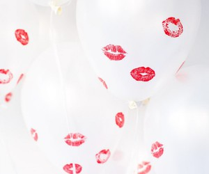 balloons, kiss, and lips image