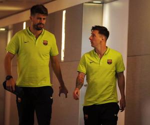 fc barcelona, lionel messi, and gerard piqué image