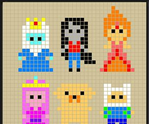 patterns, adventure time, and perler bead image