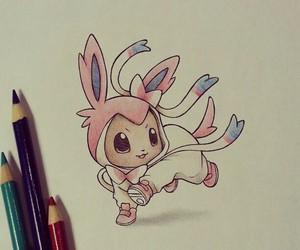 pokemon, eevee, and drawing image