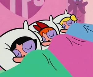 cartoon, pink, and powerpuff girls image