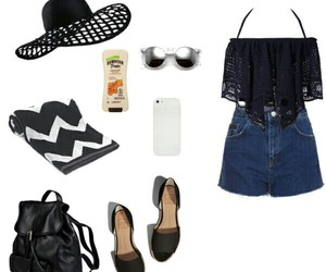 beach, outfit, and Polyvore image