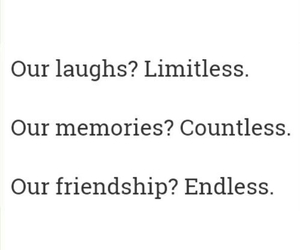 friendship, friends, and laugh image