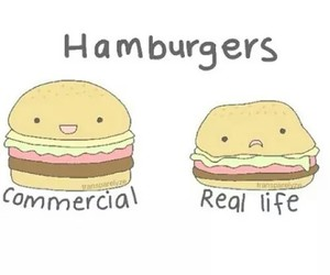 hamburger, commercial, and food image