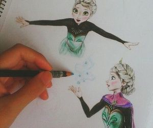 drawing, disney, and frozen image
