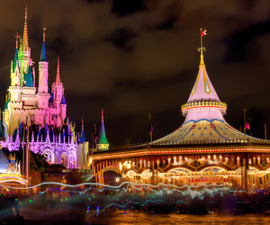 beautiful, lights, and mickey mouse image
