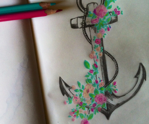 art, drawing, and anchor image