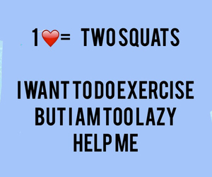 exercise, heart, and squats image