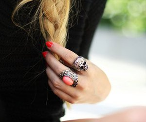 rings, blonde, and girl image