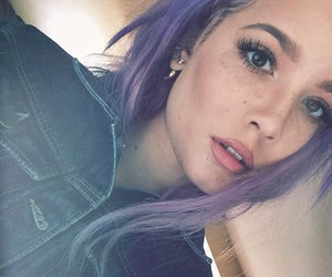 girl, pastel hair, and lilac hair image