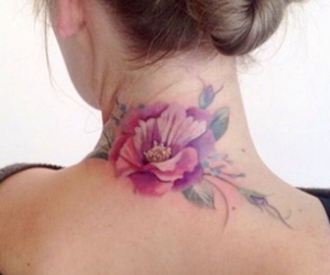 aquarell, rose, and flower image