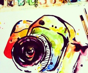 art, camera, and colorful image