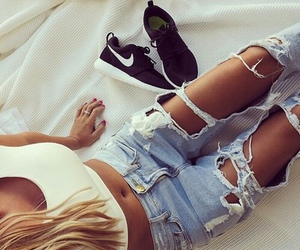 girl, girly, and jeans image