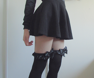 black, pale, and dress image