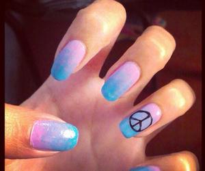 blue, nail art, and cute image