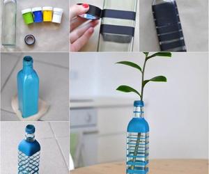 diy, bottle, and vase image