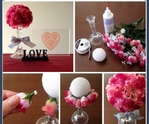 diy, roses, and flowers image