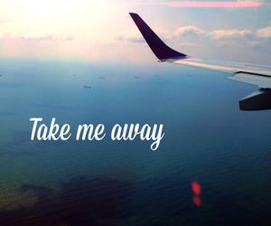 travel, take me away, and sky image
